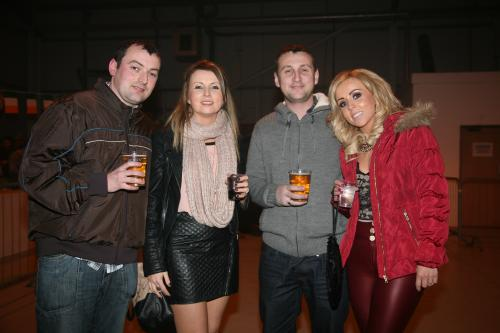 James and Mary Kearney (left) from Araglin with Justin O'Dea and Eileen Cahill from Glenville at last Saturday night's Kube fundraiser in Mitchelstown Enterprise Centre. Photo: John Ahern