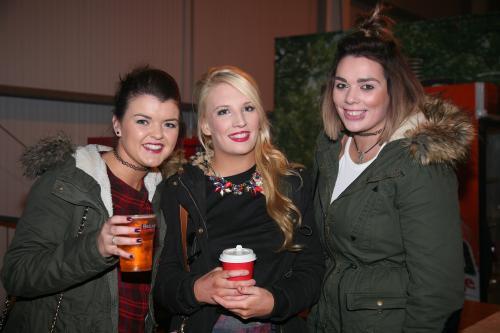 Denise Murphy (Kildorrery), Aine McGrath (Anglesboro) and Orla Walsh (Kildorrery) who were in Mitchelstown Enterprise Centre last Saturday night for The Kube. Photo: John Ahern