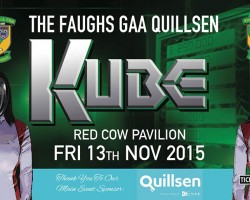 Quillsen is announced as the main sponsor of the Faughs GAA Kube Event
